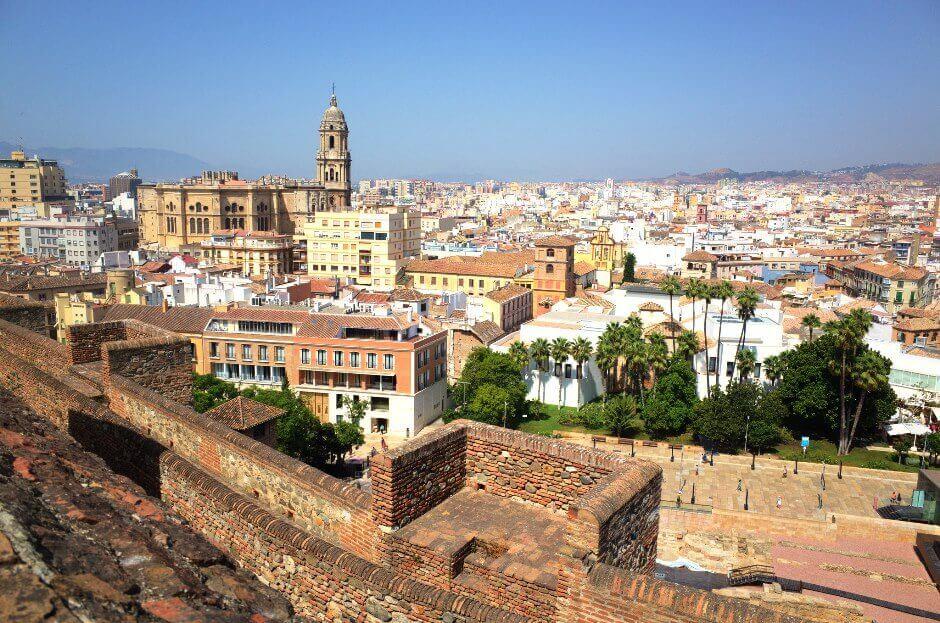 Vue de Málaga en Andalousie.