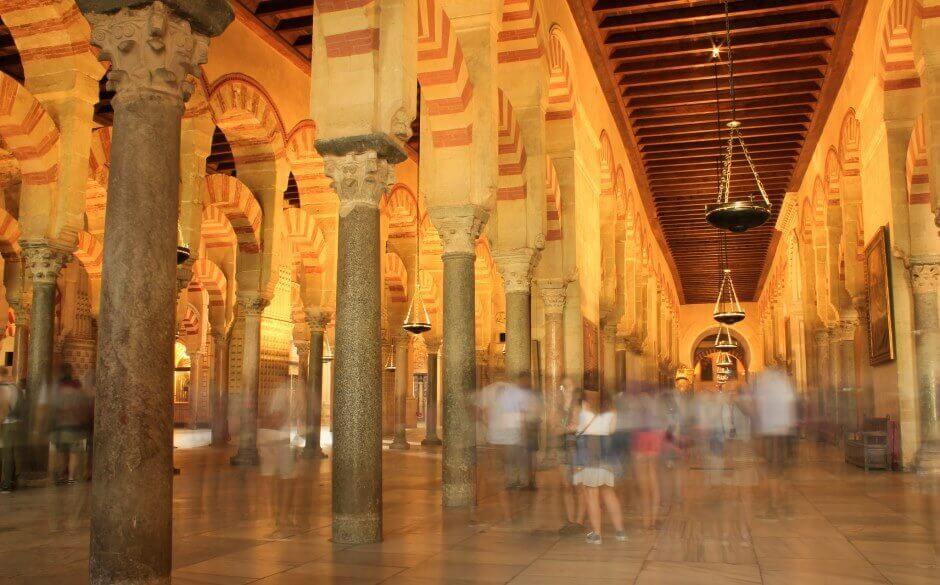 Intérieur de la mosquée-cathédrale de Cordoue.