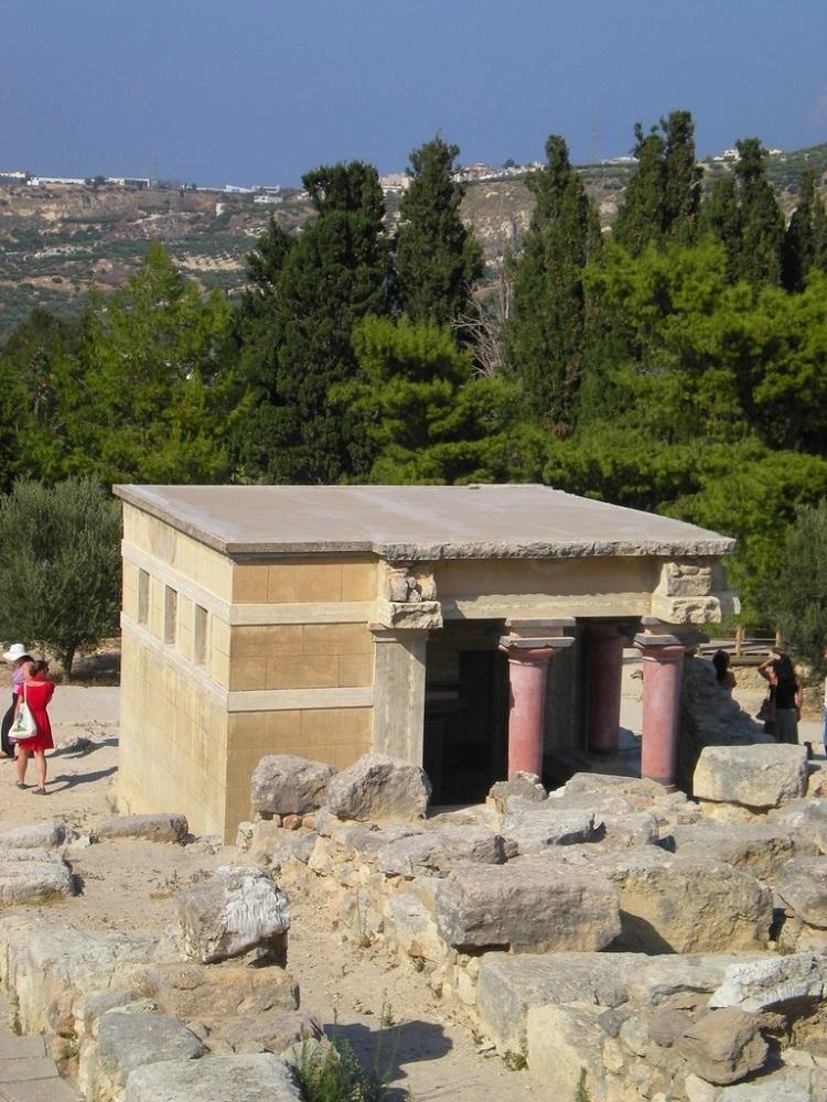Vue du site archéologique de Cnossos