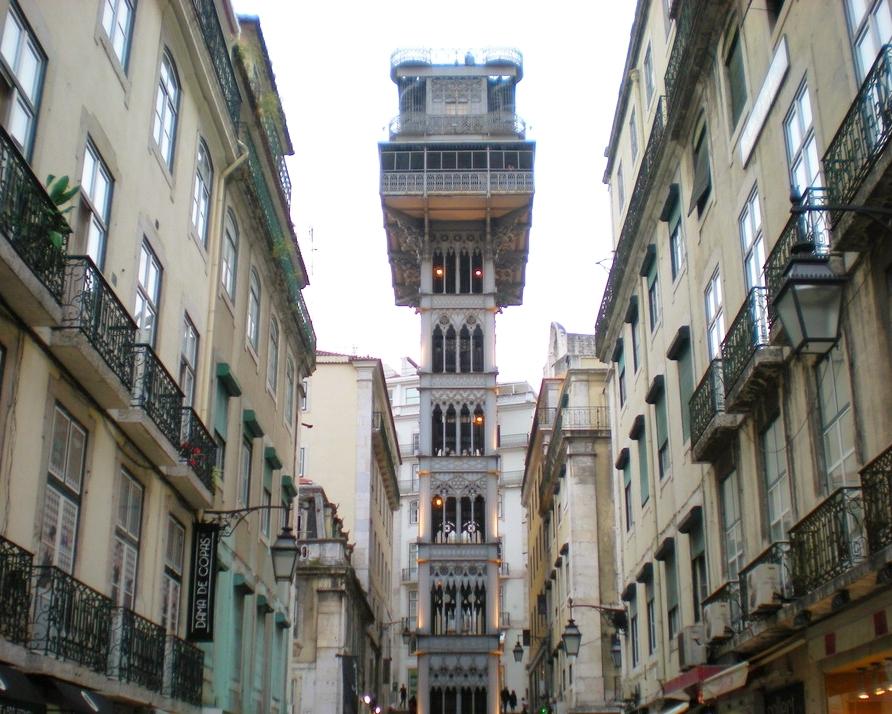 L'ascenseur de Santa Justa à Lisbonne.