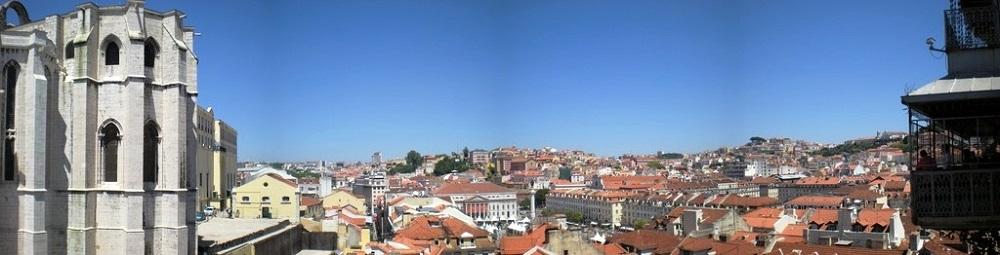 Vue de Lisbonne.
