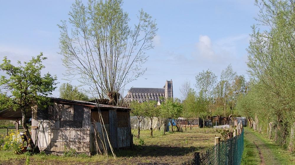 Vue des marais de Bourges