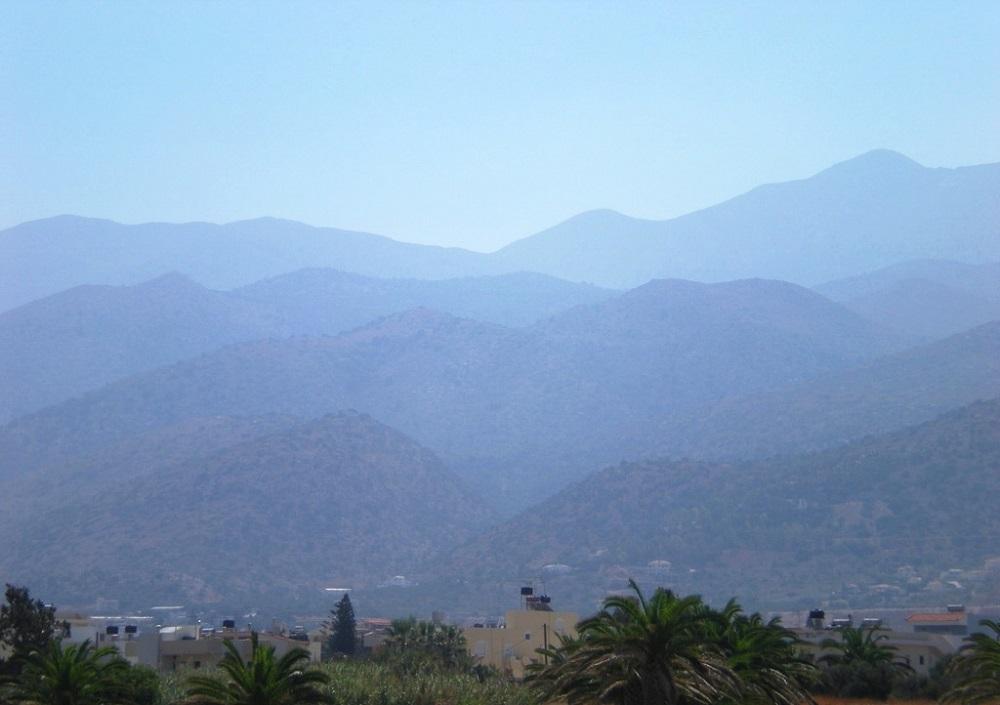 Vue sur les montagnes de Crète