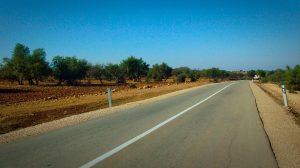 Vue d'une route au Maroc.