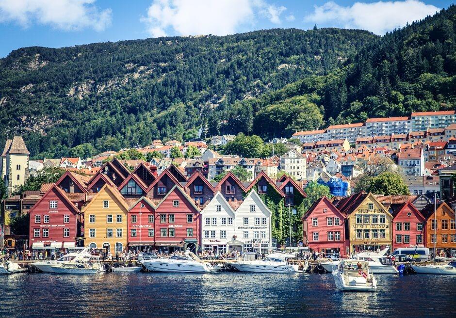 Vue de la ville de Bergen en Norvège.