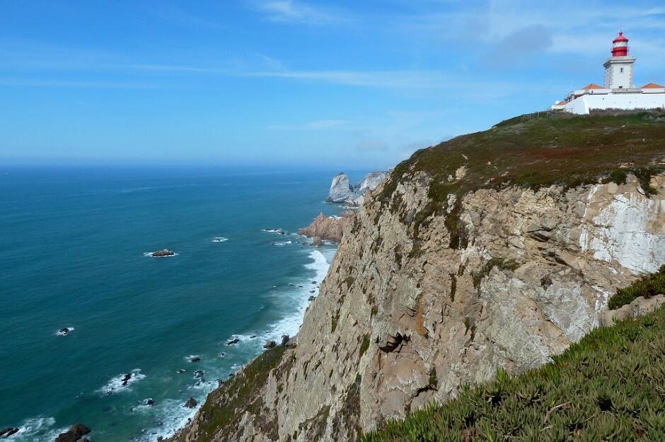 Vue du phare de Cabo da Roca au Portugal.