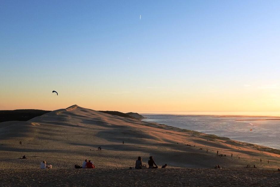 Vue de la dune du Pilat vers l'océan Atlantique.