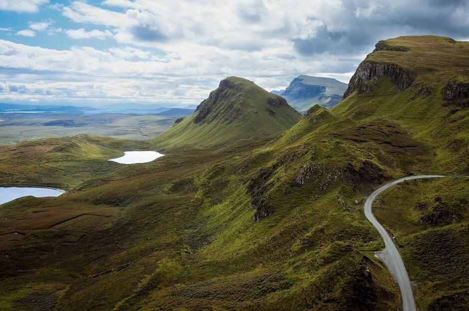 Vue de l'île de Skye en Ecosse.