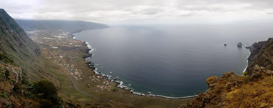 Panorama de l'île d'El Hierro aux Canaries en Espagne.