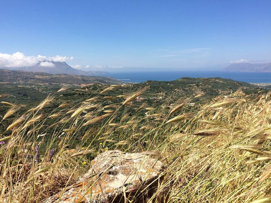 Vue de la campagne de l'île de Crète, en Grèce.