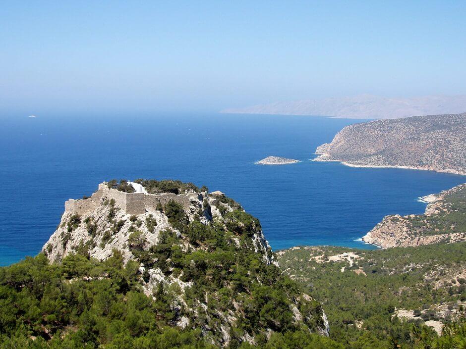 Vue de l'île de Rhodes en Grèce.