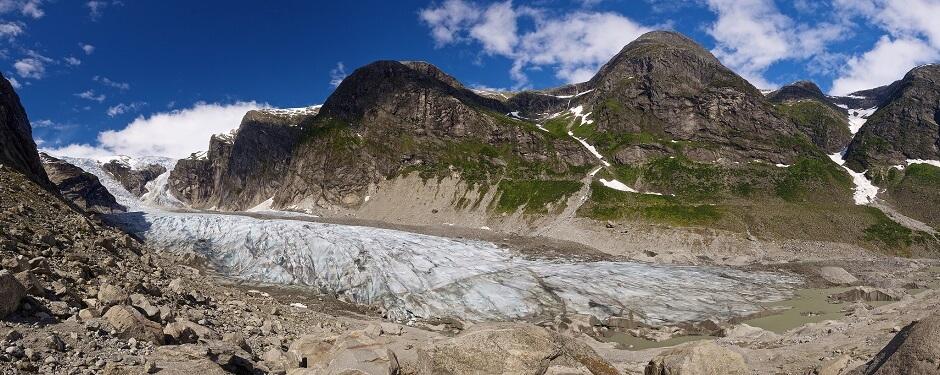 Vue du parc national de Jostedalsbreen en Norvège.