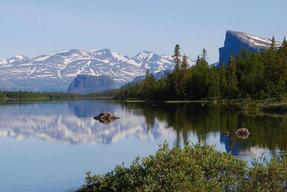 Vue du parc national de Sarek en Suède.