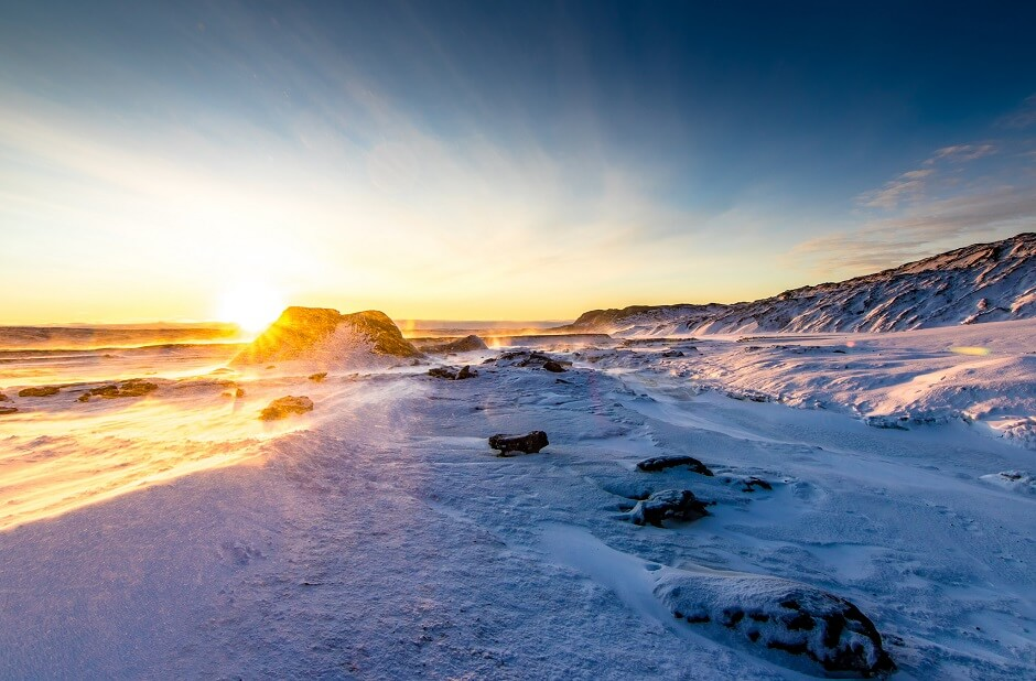 Vue du parc national de Vatnajökull en Islande.