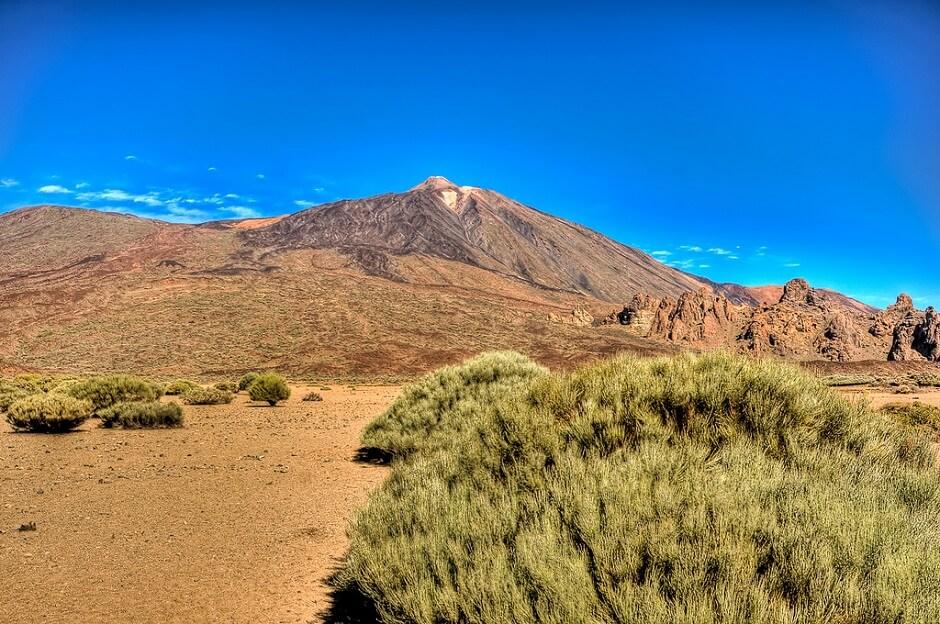 Vue du pic de Teide sur l'île de Tenerife aux Canaries en Espagne.
