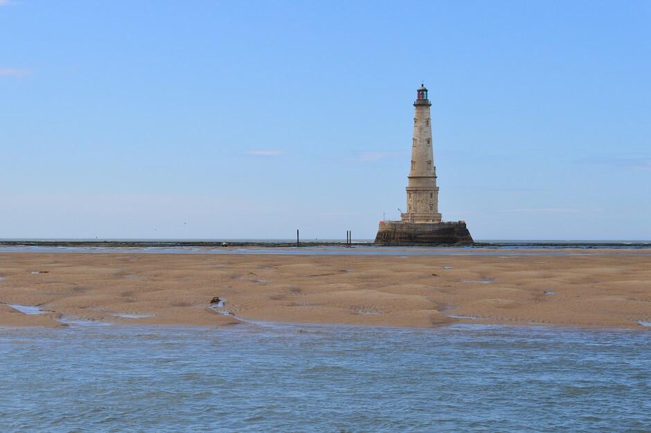 Vue du phare de Cordouan en Gironde.