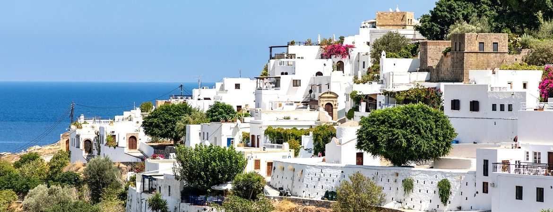 Le village de Lindos sur l'île de Rhodes.