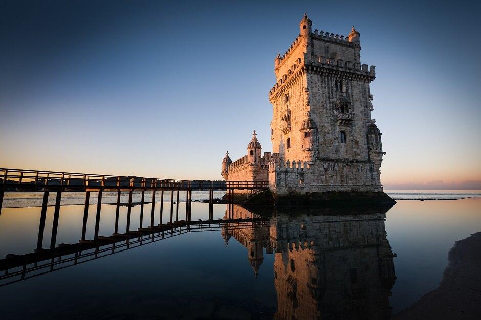 Vue de la tour de Belém à Lisbonne.