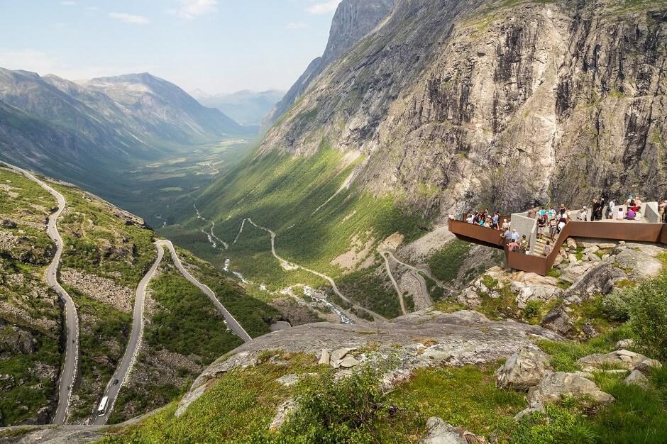 Vue de la route du Trollstigen en Norvège.