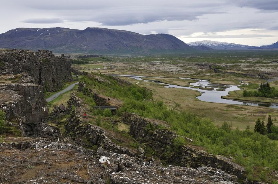 Vue du parc national de Þingvellir en Islande.