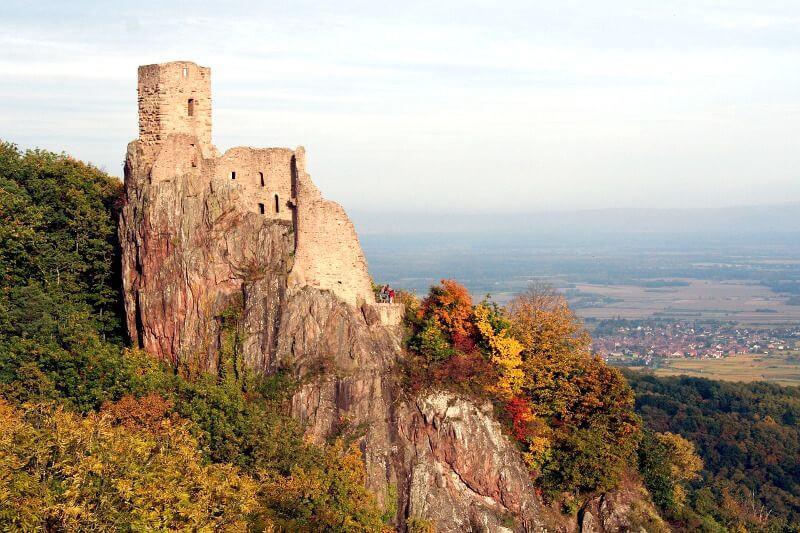 Château-fort en Alsace.