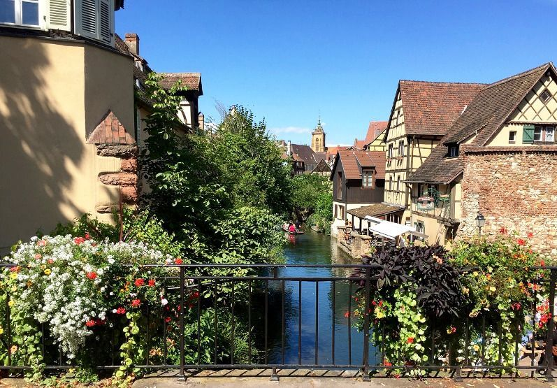Un canal à Colmar.