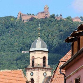 La château du Haut-Koenigsbourg en Alsace.