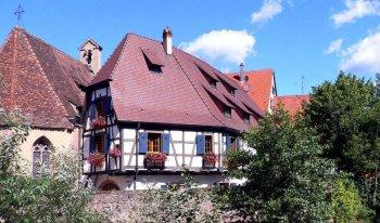 Le village de Kaysersberg en Alsace.