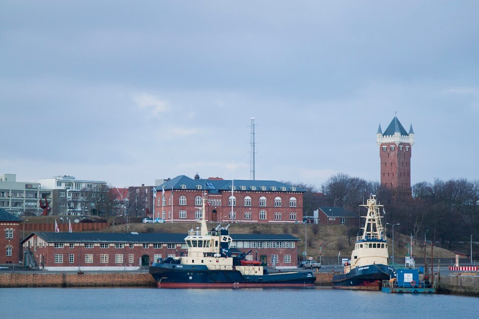 Vue de la ville d'Esbjerg au Danemark.