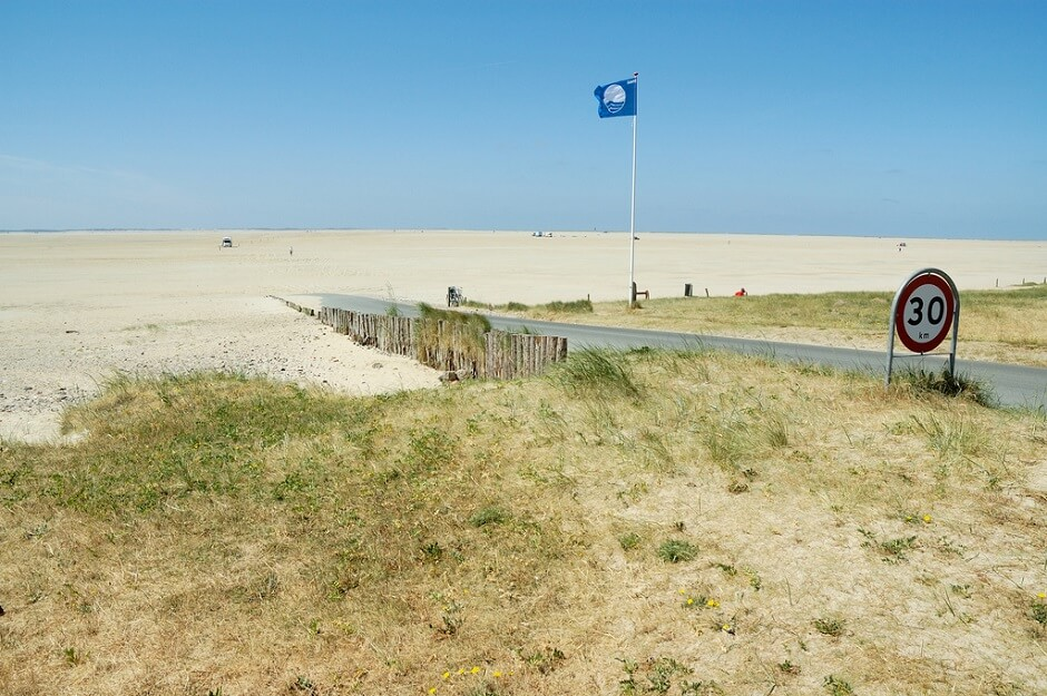 Vue de l'île de Romo au Danemark.