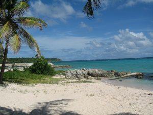 Vue de l'île de Marie-Galante à la Guadeloupe.