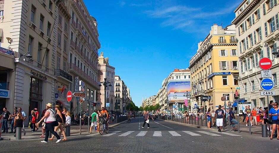 Vue de la Canebière à Marseille.