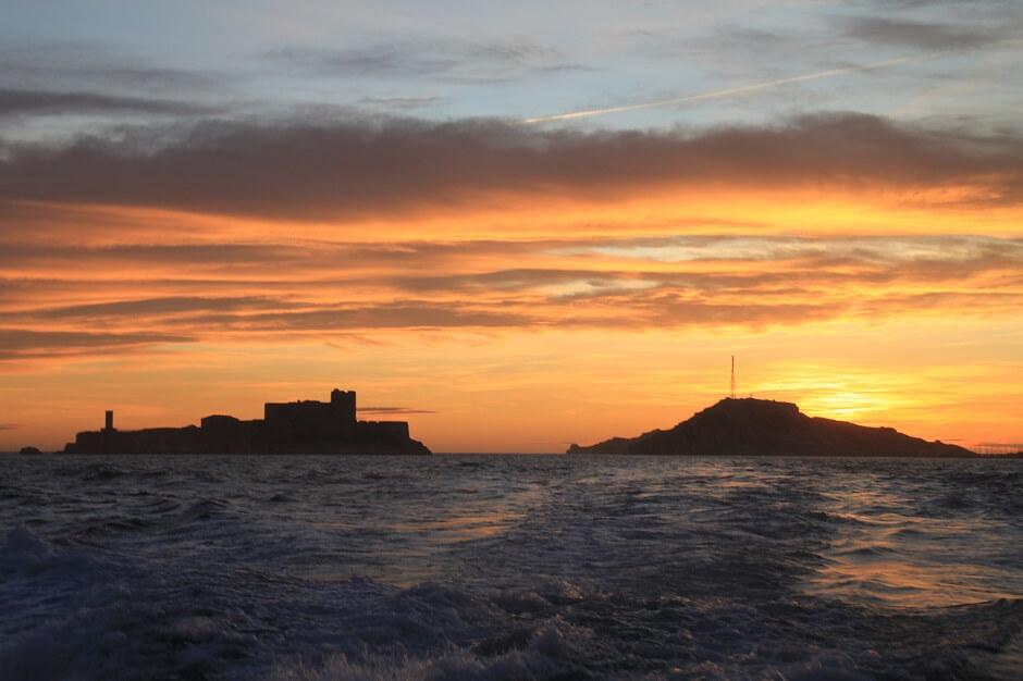Vue du château d'If à Marseille.