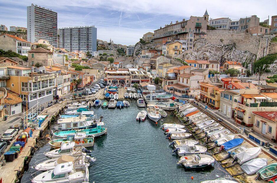 Vue de la Corniche à Marseille.