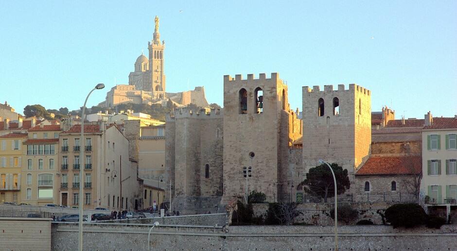 Vue de l'abbaye de Marseille.