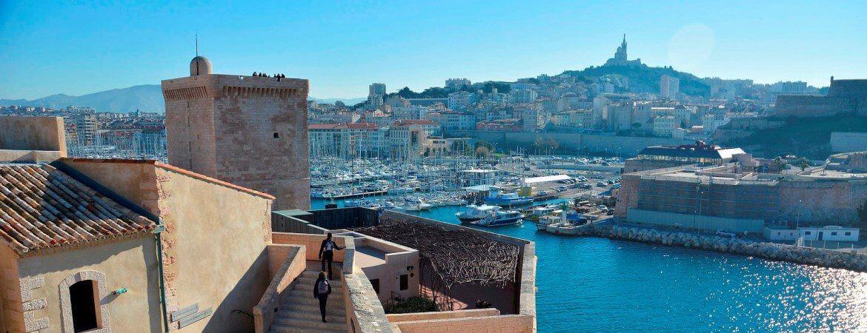 Vue du Vieux Port de Marseille.