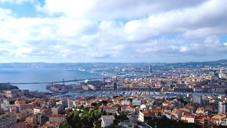 Panorama sur Marseille.