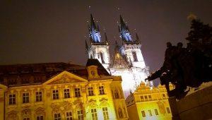 Église de Notre-Dame de Týn de nuit