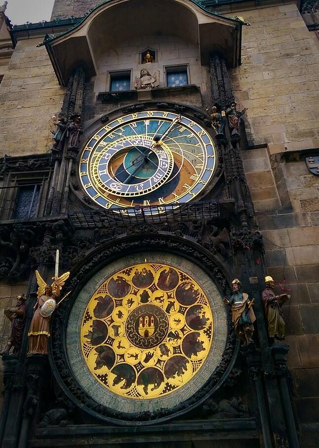 Cadrans de l'horloge astronomique de Prague