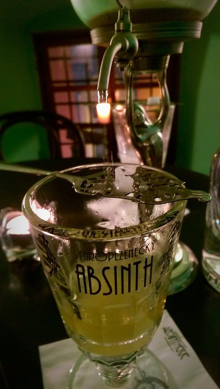 Verre d'absinthe Prague