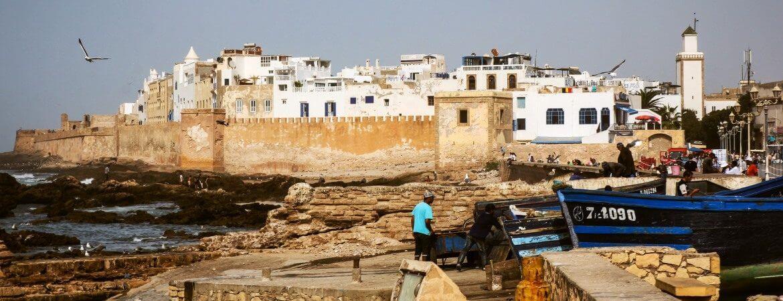 Vue de la ville d'Essaouira au Maroc.