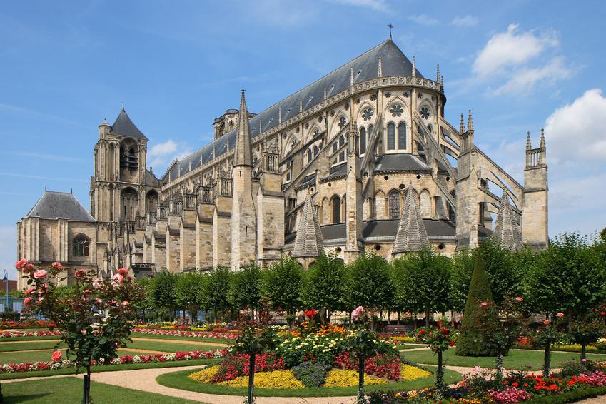Vue sur la cathédrale de Bourges