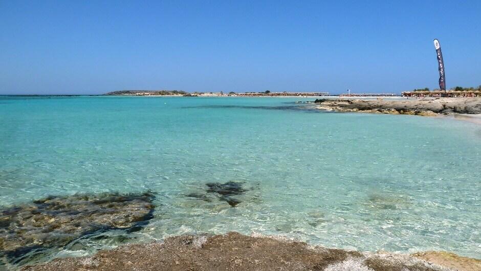 Vue de la plage d'Elafonissi en Crète.