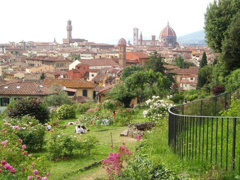Vue de Florence depuis le Giardini delle Rose.
