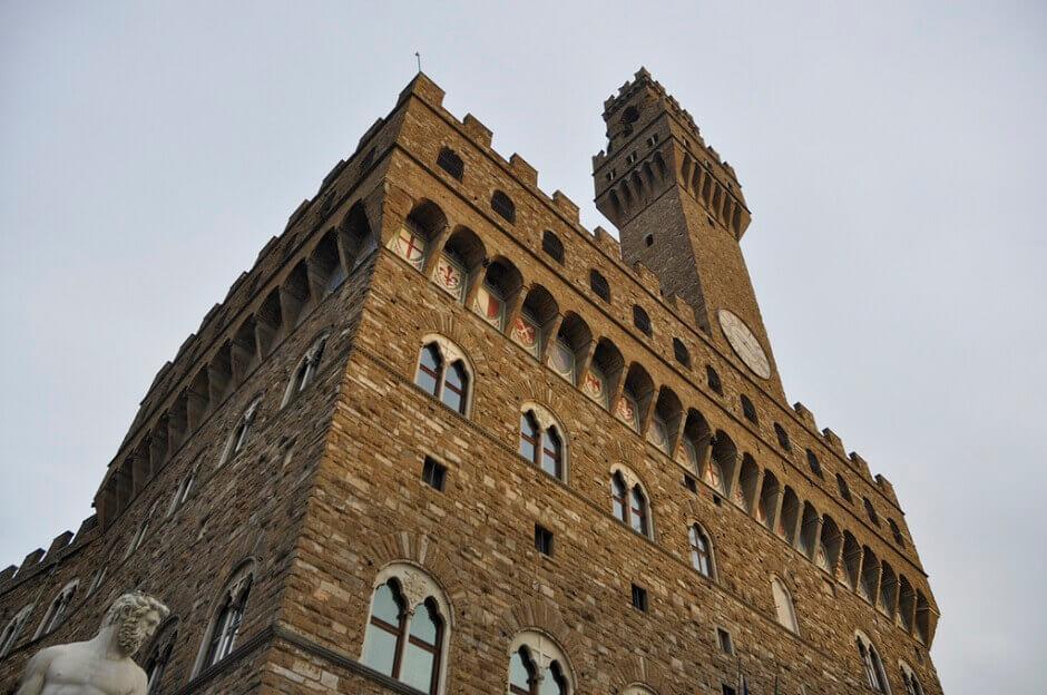 Vue du palazzo Vecchio à Florence.