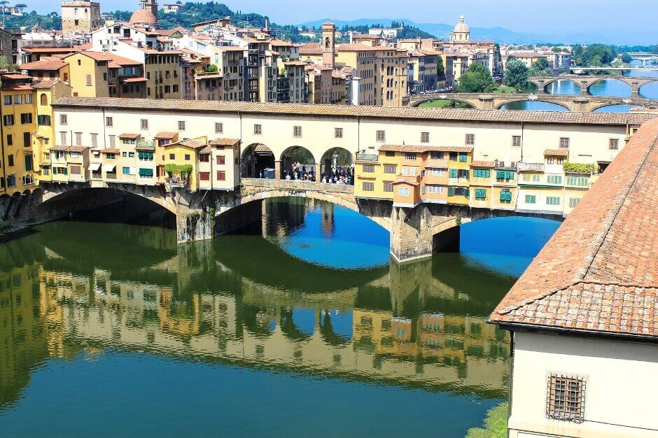 Vue du Ponte Vecchio à Florence.