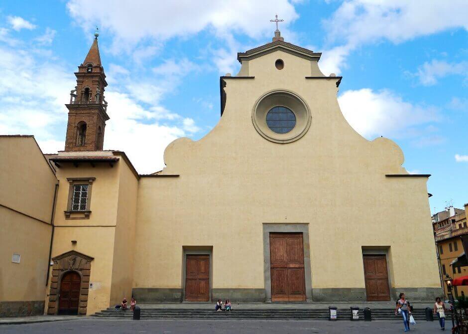 Vue de la Piazza Santa Spirito à Florence.