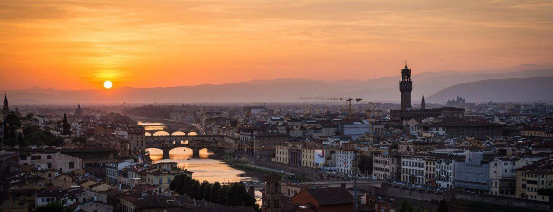 Vue générale de Florence en Italie.