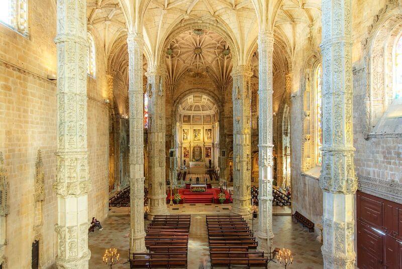 Intérieur du monastère de Belem.