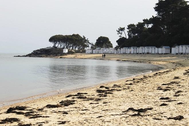 Vue de la plage des Dames sur l'ile de Noirmoutier.